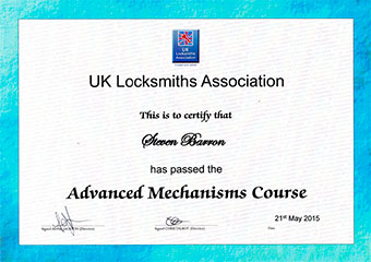 UKLA Advanced Mechanisms Certificate