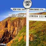 The famous Lands End sign post