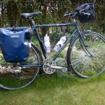 A photo of a loaded Dawes Galaxy touring bike